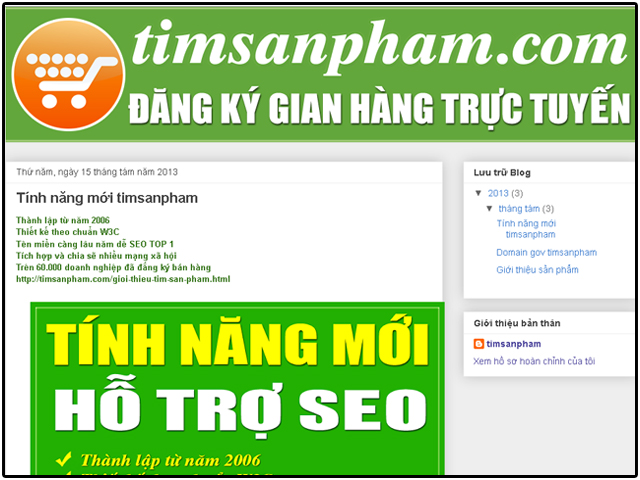 Timsanpham.com blogger